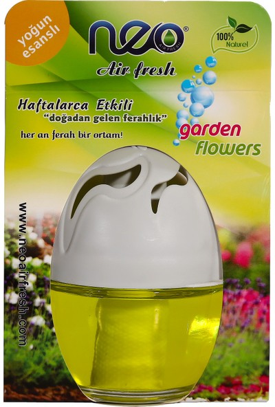 Neo Air Fresh Garden Flowers Cam Kavanoz Oto Kokusu 100 ml