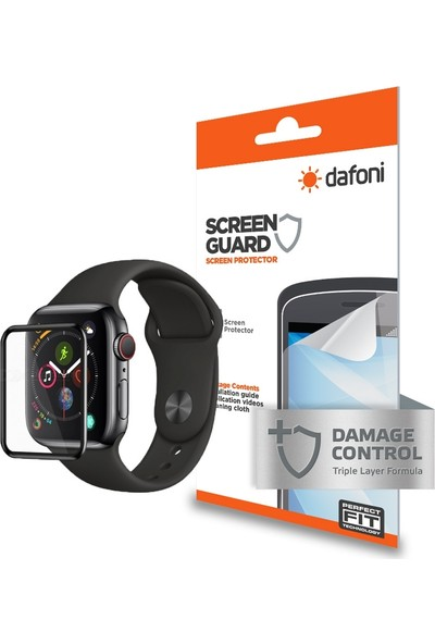 Dafoni Apple Watch 4/5 Curve Darbe Emici Ekran Koruyucu Film 44 mm