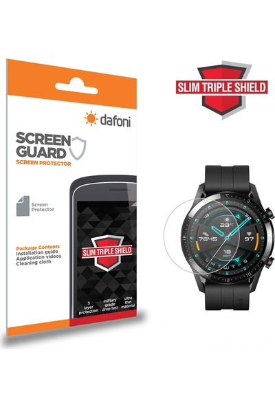 Dafoni Huawei Watch GT 2 Slim Triple Shield Ekran Koruyucu 46 mm