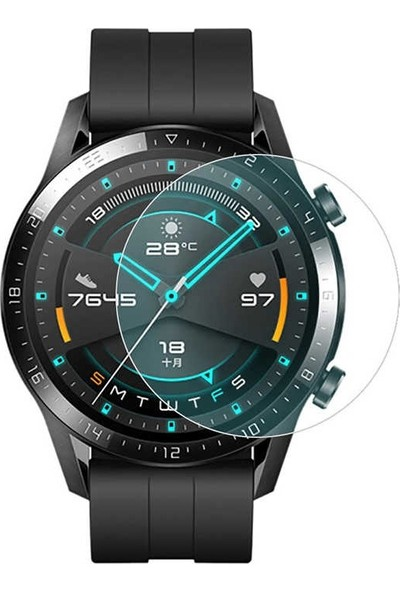 Dafoni Huawei Watch GT 2 Tempered Glass Cam Ekran Koruyucu 46 mm