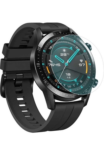 Eiroo Huawei Watch GT 2 Tempered Glass Cam Ekran Koruyucu (46 mm)