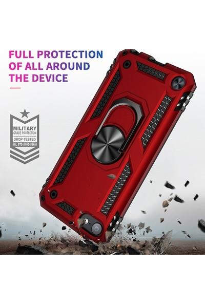 Tbkcase iPod Touch 6. Nesil Kılıf Vega Yüzüklü Tank Kapak Siyah