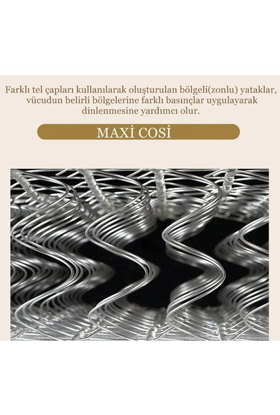 Maxi-Cosi Linen Series Yaylı Yatak Lüx Keten Kumaşlı Yaylı Yatak 90 x 140 cm