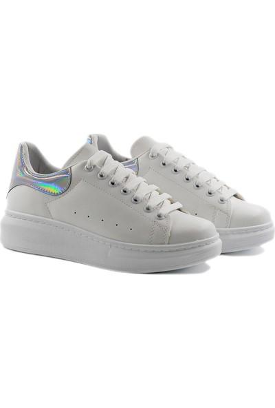 Daymotto Everyday Sneaker Ayakkabı Beyaz-Gri Neon