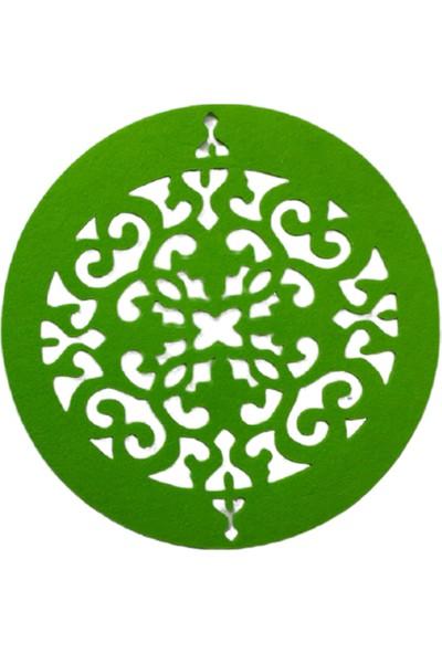 Dünya Keçe Fıstık Yeşil Osmanlı 20 Parça Amerikan Servis Takımı