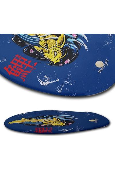 Moon Light Japan Fish Bilek Destekli Mouse Pad