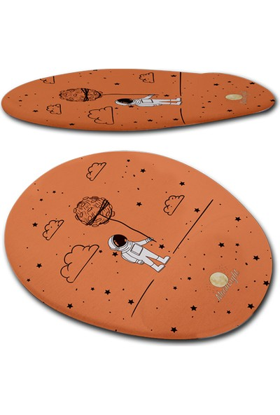 Moonlight Space Astronot Bilek Destekli Mouse Pad