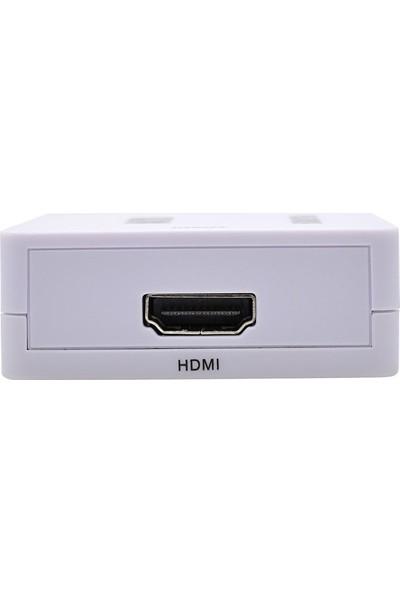 Gplus VGA To HDMI Mini Switch Full Hd VGA HDMI Görüntü Çevirici Dönüştürücü Switch