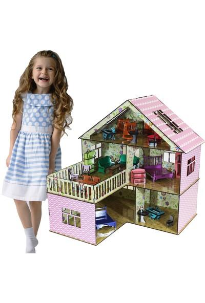 Hayal Oyuncak Ahşap Rüya Oyun Evi Portatif Barbi Bebek Seti Büyük Şimşek