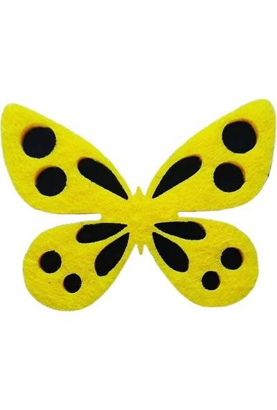 Dünya Hediye 4 cm Keçe Sarı 10'lu Paket
