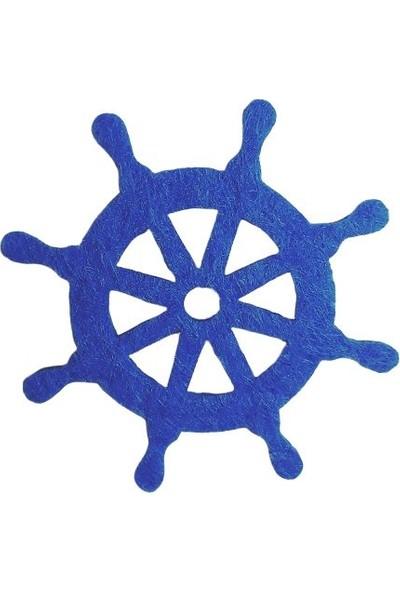 Dünya Hediye 4,5 cm Keçe Mavi Dümen 10'lu Paket