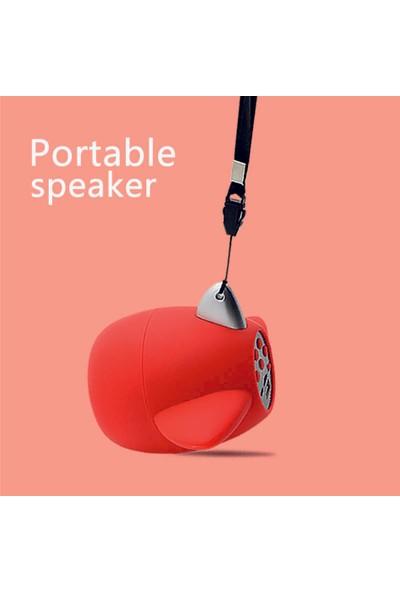 Sword Kablosuz Taşınabilir Bluetooth Hoparlör Kırmızı