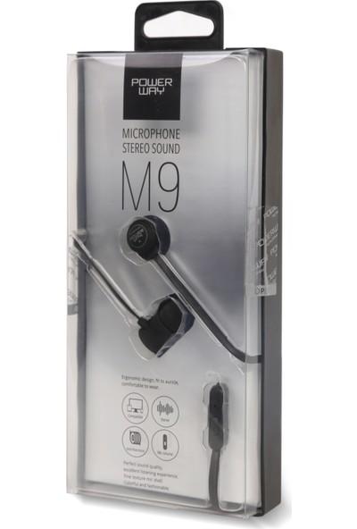 Powerway M9 Mikrofonlu Kulaklık Siyah