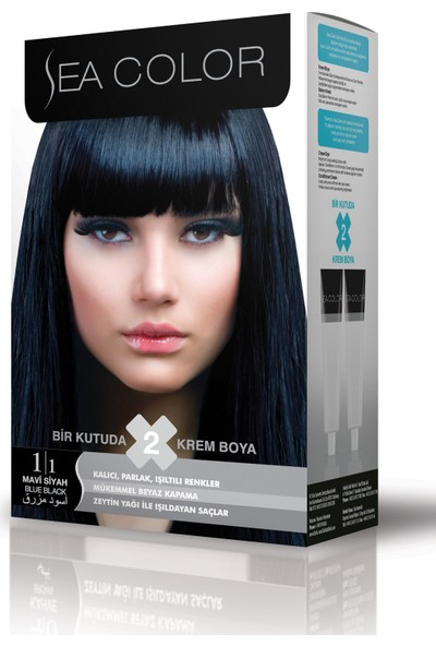 Sea Color Mavi Siyah Set Boya