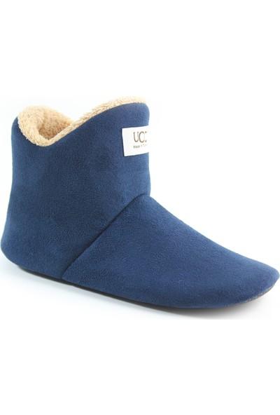 So-Cool Kadın Panduf Ev Botu Ev Ayakkabısı (Lacivert)