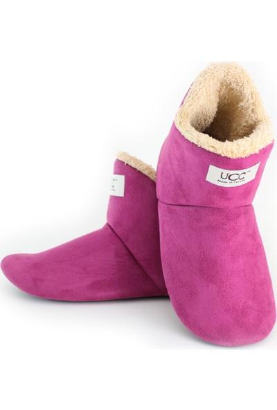 So-Cool Kadın Panduf Ev Botu Ev Ayakkabısı (Mor)