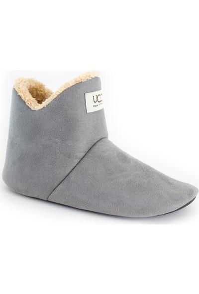 So-Cool Kadın Panduf Ev Botu Ev Ayakkabısı (Gri)