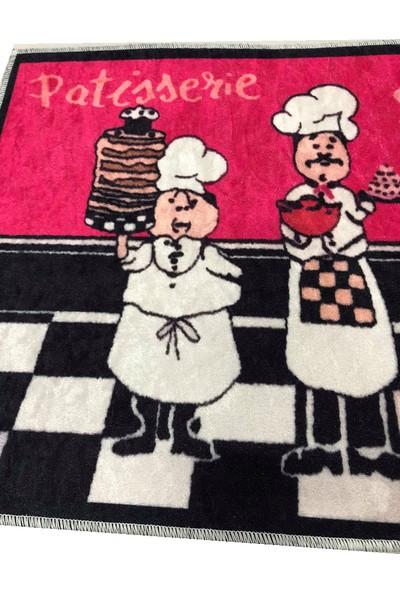 Decovilla Renkli Mutfak Halısı Tezgah Önü Halı Yıkanabilir 2 Parca