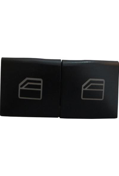 Mercedes A Sınıfı W169 B Sınıfı W245 İçin 2 Adet Ön Sol Cam Düğmesi Kapağı