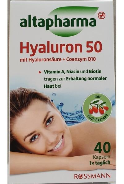 Altapharma Hyaluron 50 Hyaluronik Asit + Coenzym Q10 Içeren 40 Kapsül