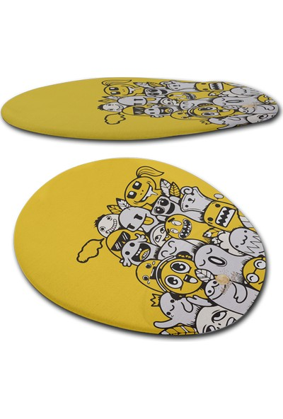 Moonlight Yellow Happy Bilek Destekli Mouse Pad