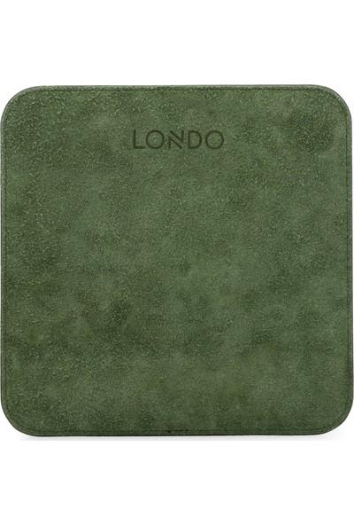 Londo Deri Bilek Destekli Rahatlatıcı Süngerli Mouse Pad - Yeşil