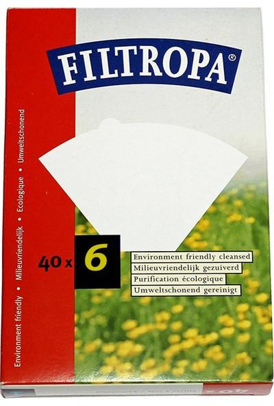 Filtropa Filtre Kahve Kağıdı 6 Numara 40'lı Paket 6 Kişilik
