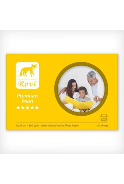 Rovi Premium İnci Fotoğraf Kağıdı - 300Gsm - 50Yp - 10X15cm