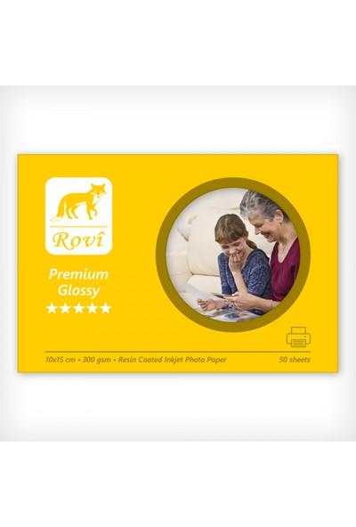Rovi Premium Parlak Fotoğraf Kağıdı - 300Gsm - 50Yp - 10X15cm