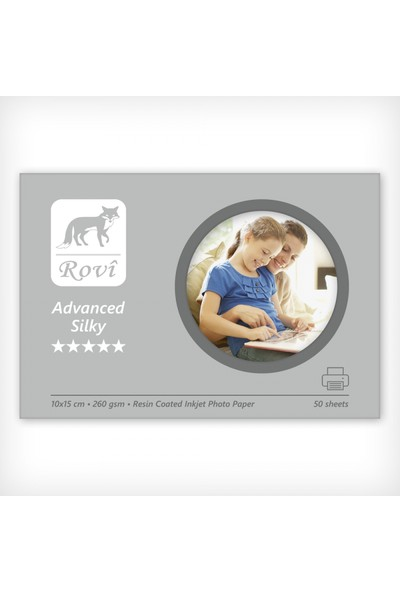 Rovi Advanced İpek Fotoğraf Kağıdı - 260Gsm - 50Yp - 10X15cm