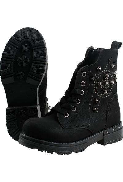 Sanbe 122P 4401 Günlük Termo Siyahn Kız Çocuk Bot Ayakkabı Siyah 26