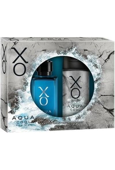 XO Aqua Cool Men Kofre EDT + Deodorant 100 ml Set Erkek