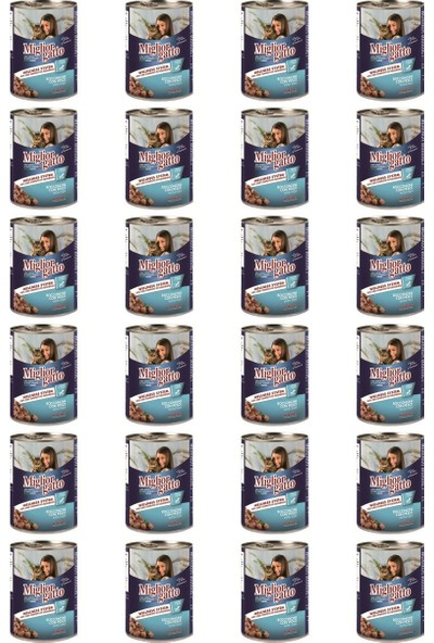 Miglior Gatto Balıklı Kedi Konservesi 405 Gr x 24 Adet