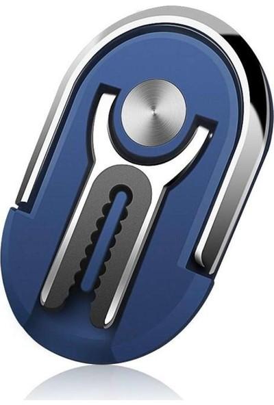 Hicuc CP-113 Popsocket Telefon Standı / Dock Yüzük/araç Telefon Tutucu Mavi