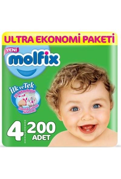 Molfix 4 Numara 200'lü 4 Beden (7 - 14 kg)