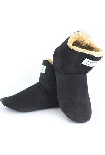 So-Cool Kadın Panduf Ev Botu Ev Ayakkabısı (Siyah)