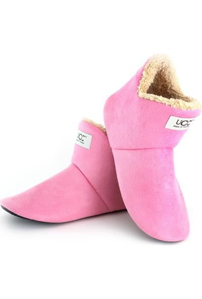 So-Cool Kadın Panduf Ev Botu Ev Ayakkabısı (Pembe)