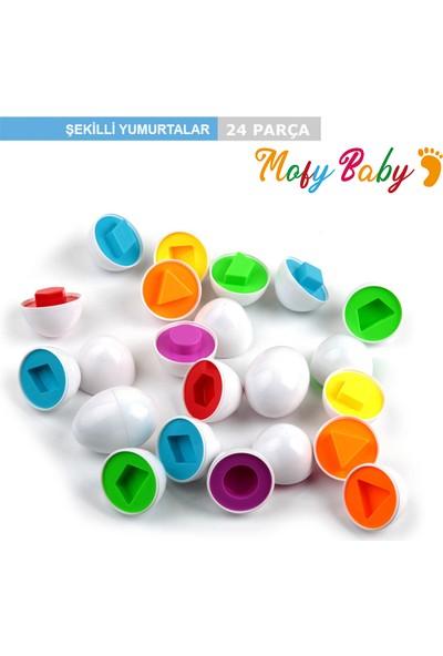 Mofy Baby 12 Li 24 Parça Geometrik Şekilli Zeka Geliştirici Oyun