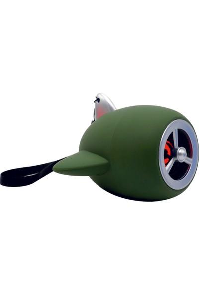 Sword Kablosuz Uçak Model Taşınabilir Bluetooth Hoparlör - Yeşil