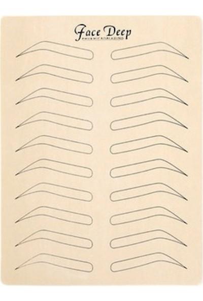 Ymr Microbladıng Için Pudralı Kaş Pratiği Için Silikon Deri / 4 Adet