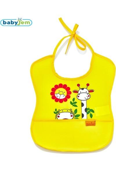 Babyjem Poli Muşamba Önlük Küçük Sarı