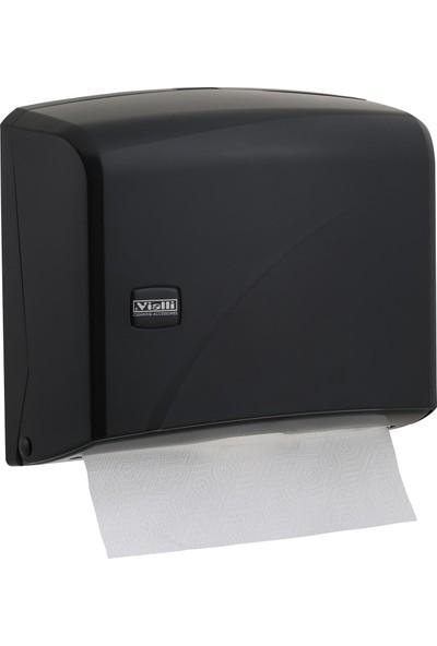 Vialli K1B Z Katlı Kağıt Havlu Dispenseri Siyah 200'lü