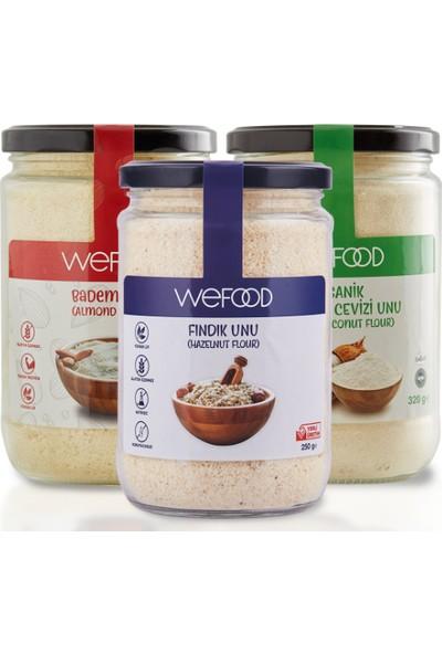Wefood Badem Unu 250 gr + Fındık Unu 250 gr + Organik Hindistan Cevizi 320 gr