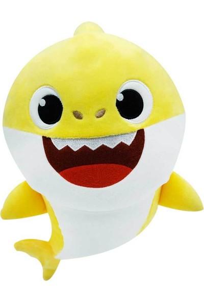Baby Shark Sesli Bebek Shark Sarı Peluş 25 cm