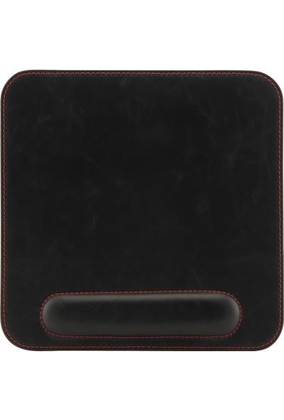Londo Ot215 Deri Bilek Destekli Mouse Pad - Siyah