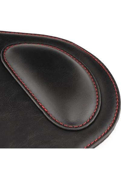 Londo Ot218 Oval Deri Bilek Destekli Mouse Pad - Siyah