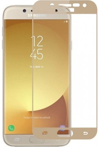 YGT Samsung Galaxy J5 Pro Fiber Nano Ekran Koruyucu Gold