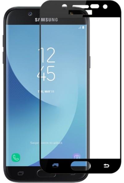 YGT Samsung Galaxy J7 Pro Full Cam Ekran Koruyucu Siyah