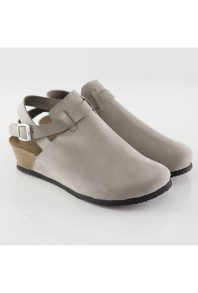 ART'iz Letoon Gri Platform Sandalet