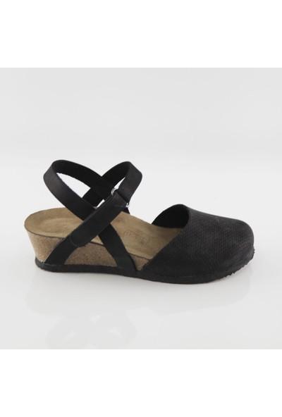 ART'iz Perge Siyah Platform Sandalet
